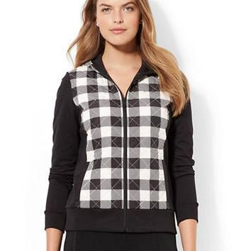 Lauren Ralph Lauren Plus Quilted Buffalo Check Jacket