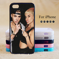 Miley Cyrus,Justin Bieber,iPhone 5 case,iPhone 5C Case,iPhone 5S Case, Phone case,iPhone 4 Case, iPhone 4S Case,Case-IP002Cal