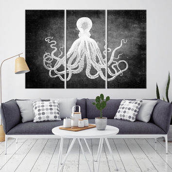 98099 - Octopus Wall Art- Octopus Canvas Print- Octopus Poster Print- Wall Art Octopus- Octopus Wall Decor