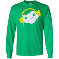 Overwatch Lucio Headphones Spray LS Ultra Cotton Tshirt