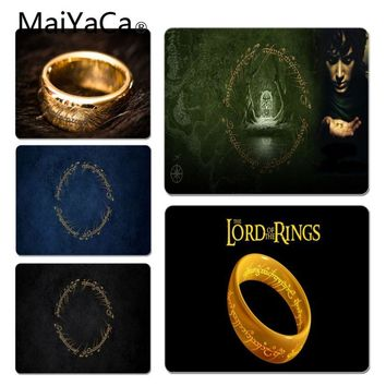 MaiYaCa  The Lord of the Rings LOGO Customized laptop Gaming mouse pad Size for 20X25cm and 25X29cm Gaming Mousepads