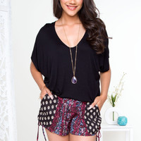 Becka Pattern Shorts