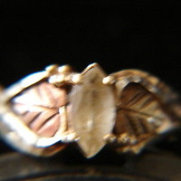 Black Hills Gold Crystal W/ Leaves ring 10 kt 12 kt Coleman Size 6