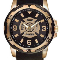 Aqua Force Firefighter Rose Gold Watch with 40mm Face