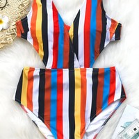 Cupshe Passing Fancy Stripe One-piece Swimsuit