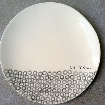 8 dish be you MADE TO ORDER by mbartstudios on Etsy