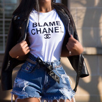 Blame Chanel T-shirt SMALL