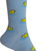 Rubber Ducky Crew Socks in Cool Blue