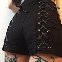 Criss Cross Hot Pants