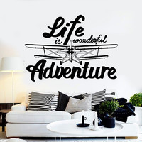 Vinyl Wall Decal Inspired Quote Adventure Home Art Decor Stickers Unique Gift (ig4618)