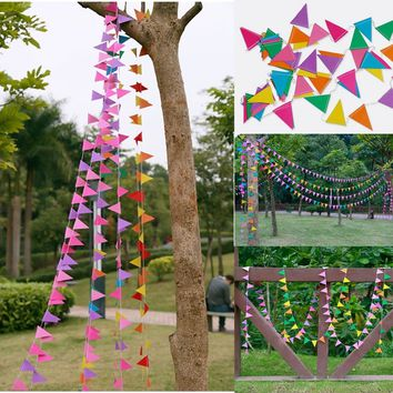 4M Multi-color Flags Bunting Banner Garland Decoration Wedding Birthday Party DIY