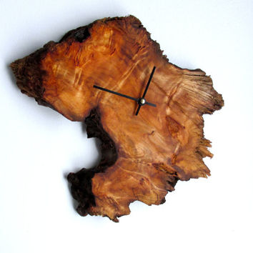 Natural Rustic Wood Clock with Exposed Live Edge | Wood Clock | Rustic Clock | Minimalist