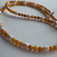 Yellow Mother of Pearl and White Shell Beaded by PhreshThreadz