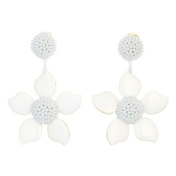Oscar de la Renta Bold Enamel Flower Drop Earrings | Nordstrom