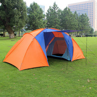 2015 new style high quality big tourist tent double layer two bedroom camp 4 person large camping tent family