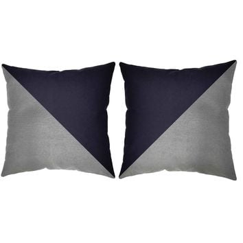 Metallic Silver Cross Section Throw Pillows