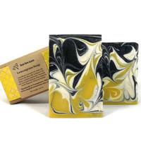 Lemongrass Soap, Essential Oil Soap, Charcoal Soap, Handmade Soap, Vegan Soap, Gift under 10
