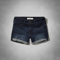 A&F DENIM MIDI LENGTH SHORTS