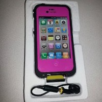 Waterproof Shockproof Life Proof Dirt Proof Water Case Cover for Apple Iphone4 4s(hot Pink Color)