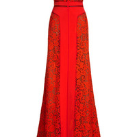 Short Sleeve Off-The-Shoulder Gown With Crepe Inserts by J. Mendel for Preorder on Moda Operandi