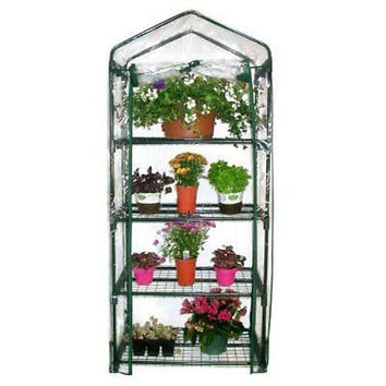 Sturdy Shelves Mini Greenhouse Gardman Frame Garden  4-Tier Tubular Steel New