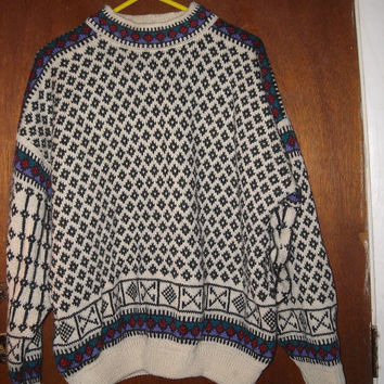 Mens Vintage Dale of Norway Windstopper Sweater M Medium