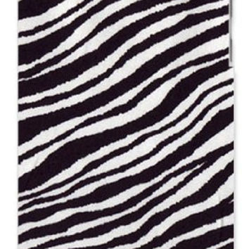 Zoo Animal Zebra Skin Hair Apple ipod 4 Quality Hard Case Snap On Skin for ipod 4/4G (WHITE)