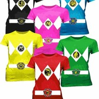 Power Rangers Costume Juniors Tees - Power Rangers - Free Shipping on orders over $60 | TV Store Online