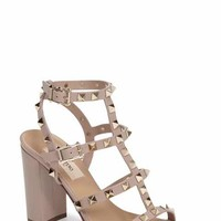 nordstrom valentino rockstud t strap sandal nude - Google Search