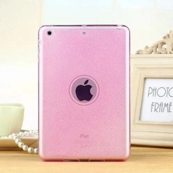 Silicone Case For Ipad Air 1 / Air 2 ( Ipad 5 6 ) TPU Soft Smart Case Bling Glitter Back Cover For Apple iPad Mini 1 2 3 Retina