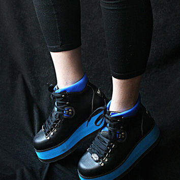 Blue Ray  80's Vintage RARE Rave Boots FREE SHIPPING - New Never worn