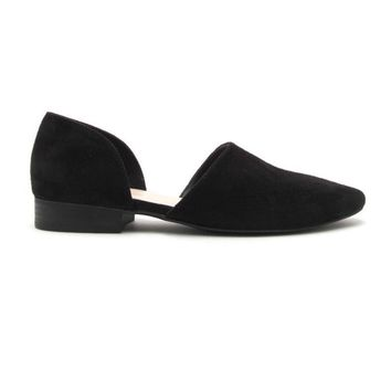 Flat Out Suede Slip On In Black