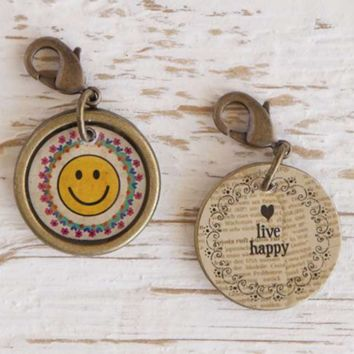 Natural Life Smiley Face Junk Market Hobby Charm