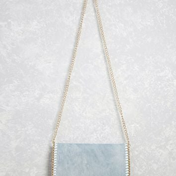 Denim Crossbody Chain Bag