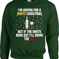 Ugly Christmas Sweater Wine Gift Ideas For Her Xmas Pullover Holiday Jumper Wine Sweatshirt Christmas Present For Women Xmas Hoodie - SA865