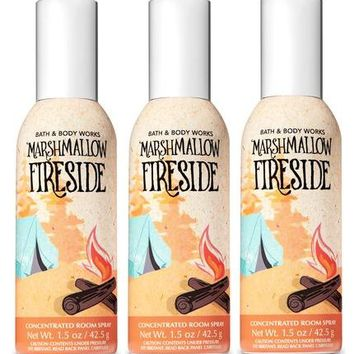 3 Bath & Body Works MARSHMALLOW FIRESIDE Room Spray 1.5 oz