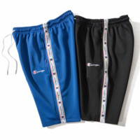 Champion 2018 Summer Tide Embroidered Letter Casual Sports Shorts F0236-1