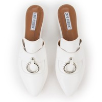 Cape Robbin Cell-14 Women's White Mule