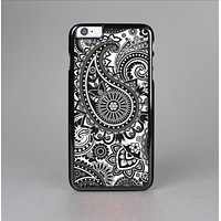 The Black and White Paisley Pattern V6 Skin-Sert for the Apple iPhone 6 Skin-Sert Case