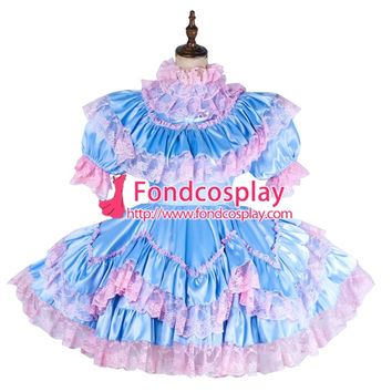 Aliexpress.com : Buy Free Shipping lockable Sissy maid Satin Uniform cosplay costume Tailor made[G1992] from Reliable costume batman suppliers on www Fondcosplay com