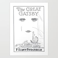 The Great Gatsby Art Print by S. L. Hurd