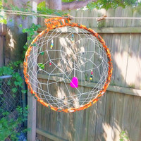 Large Woven Dream Catcher Beaded Home Decor