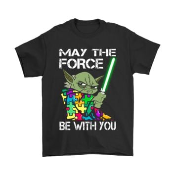 PEAP3CR May The Force Be With You Autism Awareness Star Wars Shirts