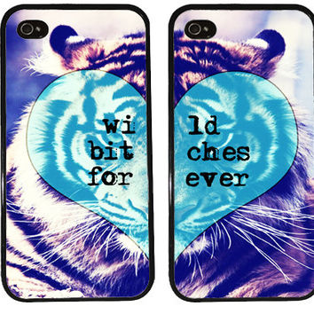 BFF Case / Tiger iPhone 4 Case Best Friends iPhone 5 Case iPhone 4S Case iPhone 5S Case wild BITCHES forever One For Your BFF gift
