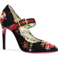 Gucci Sylvie Pointy Toe Mary Jane Pump (Women) | Nordstrom