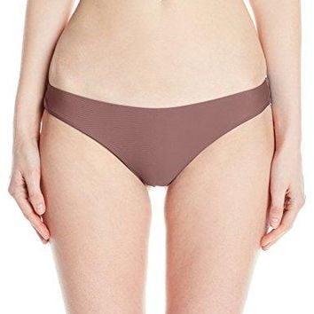 RVCA Womens Solid LowRise Cheeky Swimsuit Bikini Bottom