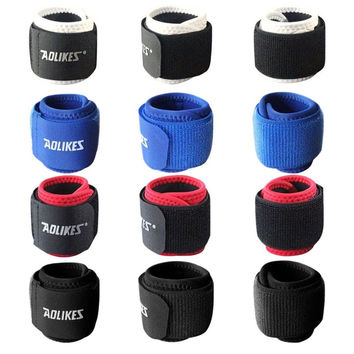 Aolikes 1Pcs Sports Wristband Gym Wrist Thumb Support Straps Wraps Bandage Fitness Training Safety Hand Bands
