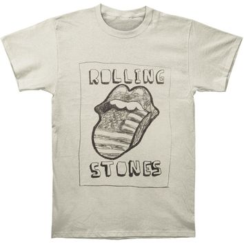 Rolling Stones Men's  Sketch US Tongue T-shirt Off-white