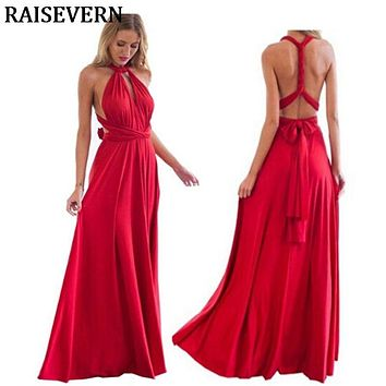 Women Multiway Wrap Convertible Boho Maxi Club Dress Sexy Bandage Long Dress Party Bridesmaids Infinity Robe Longue Femme Dress