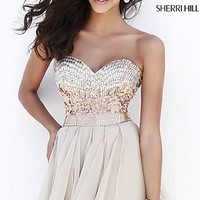 Short Strapless Party Dress from Sherri Hill